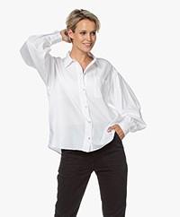 ba&sh Titouan Balloon Sleeve Shirt - White