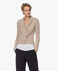 no man's land Mohair Blend Cardigan with Pin Closure - Oak
