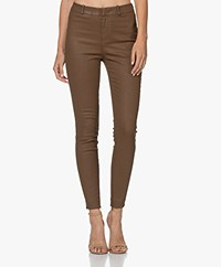 Drykorn Winch Skinny Coated Pants - Brown