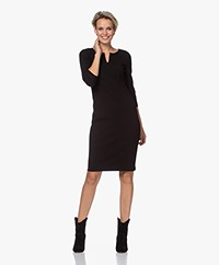 Kyra & Ko Calla Bi-stretch Crepe Jersey Dress  - Black