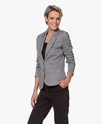 Repeat Tailored Herringbone Blazer - Black/White