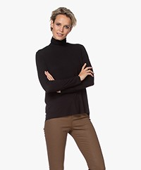 Majestic Filatures Superwashed Jersey Turtleneck Longsleeve - Black