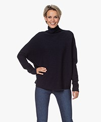 Drykorn Liora Virgin Wool Turtleneck Sweater - Navy