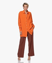 American Vintage Kyobay Long Oversized Shirt - Pumpkin