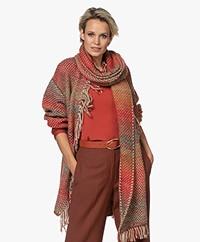 LaSalle Gerstekorrel Gradiënt Sjaal - Multi-color