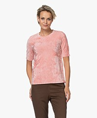 Majestic Filatures NIcky Velvet Jersey T-shirt - Rose Tan