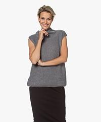 Josephine & Co Jeff Sleeveless Turtleneck Pullover - Silver Grey