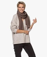 Filippa K Corinne Wool Blend Knit Scarf - Dark Taupe