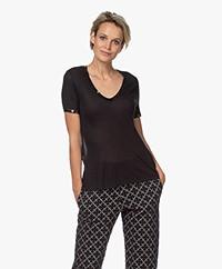 Zadig & Voltaire Kayak Tino Foil Modal T-shirt - Black