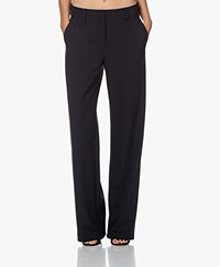 Josephine & Co Jodi Straight-leg Travel Jersey Pants - Navy