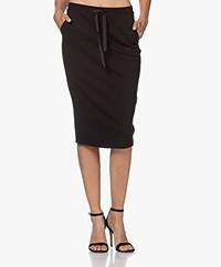 Kyra & Ko Engla Ponte Jersey Pencil Skirt - Black