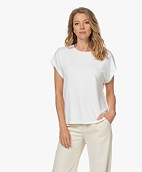 Majestic Filatures Viscose French Terry T-shirt - Milk