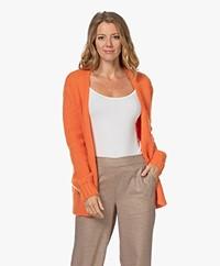 KYRA Jo Open Mohair- en Wolmix Vest - Warm Orange
