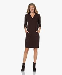 KYRA Diva Textured Jersey Dress - Coffee Bean