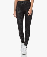 SPANX® Faux Leather Camo Leggings - Matte Black