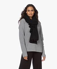 Repeat Biologisch Cashmere Sjaal - Zwart