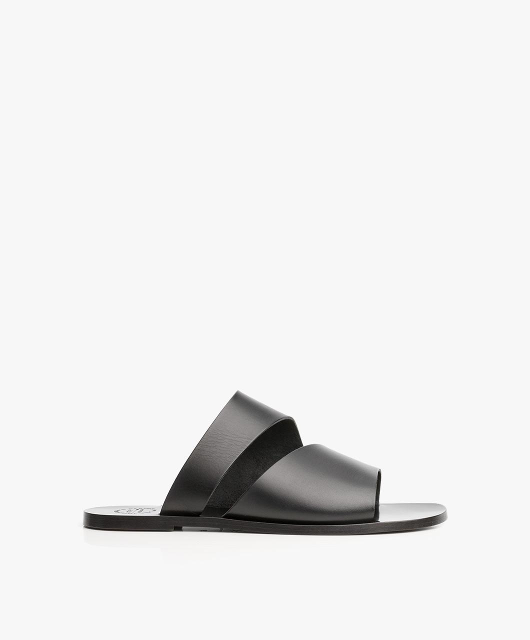 Immagine di ATP Atelier Slipper Sandals Lis in Black Leather