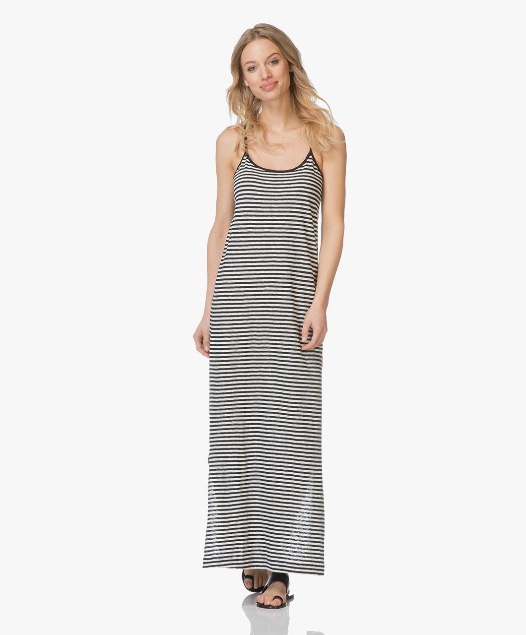 gestreepte maxi dress
