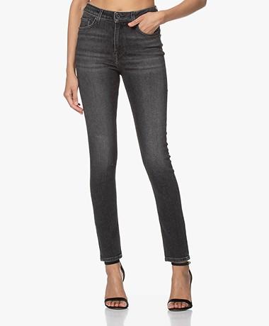 by-bar Bio-katoenen Stretch Skinny Jeans - Donkergrijs