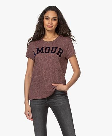 Zadig & Voltaire Walk Amour Print T-shirt - Corail
