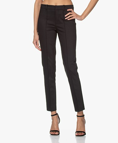 Drykorn Act Katoenmix Pantalon met Stretch - Zwart