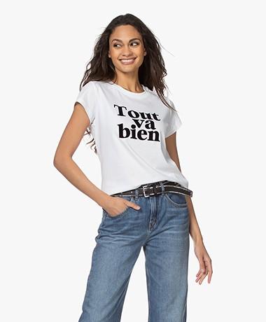 Zadig & Voltaire Woop Tout Va Bien T-shirt - Wit