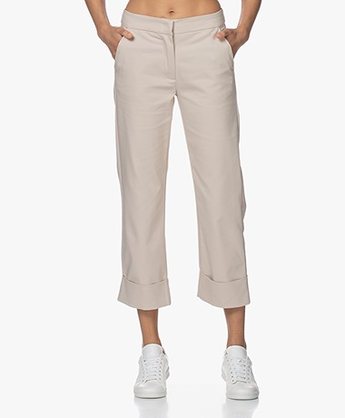 LaSalle Straight Stretch Cotton Blend Pants - Sand