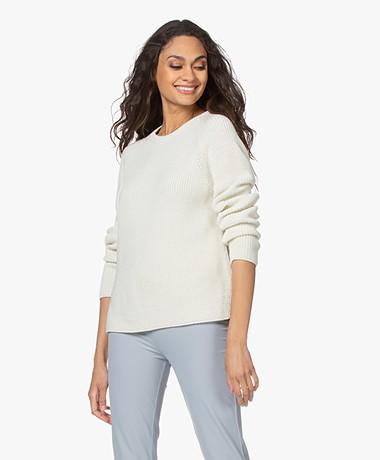Sibin/Linnebjerg Coral Fisherman's Merino Blend Sweater - Off-white