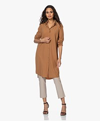JapanTKY Liya Travel Jersey Shirt Dress - Cannella
