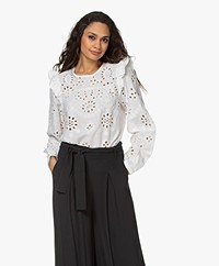 by-bar Mila Broderie Anglaise Blouse - Off-white
