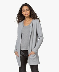 Sibin/Linnebjerg Mary Short Cardigan in Merino Blend - Grey Melange