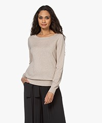 Repeat Sweater in Organic Cotton and Viscose - Beige