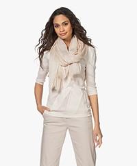 LaSalle Cotton Blend Printed Scarf - Beige