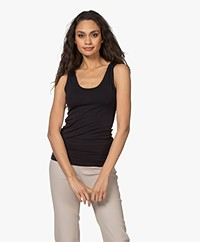 Majestic Filatures Soft Touch Jersey Tank Top - Marine