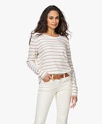 Josephine & Co Lionel Cotton Blend Frotté Sweater - Off-white/Mocca