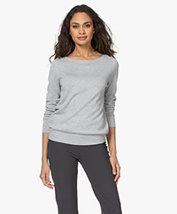 Repeat Sweater in Organic Cotton and Viscose - Soft Grey