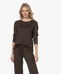 Sibin/Linnebjerg Maria Fine Knit Merino Sweater - Brown