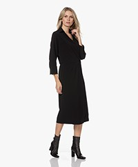 JapanTKY Wadori Midi Wrap Dress - Deep Black