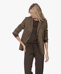 Vanessa Bruno Solange Checkered Wool Blend Blazer - Marron