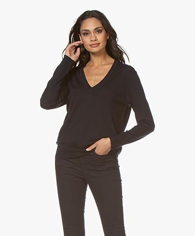 Filippa K Merino  V-neck Sweater - Navy