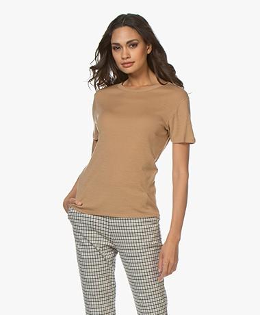 Filippa K Merino Wool T-shirt - Camel