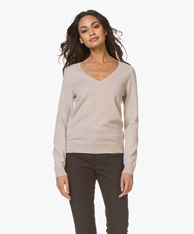 Repeat Cashmere V-hals Pullover - Beige