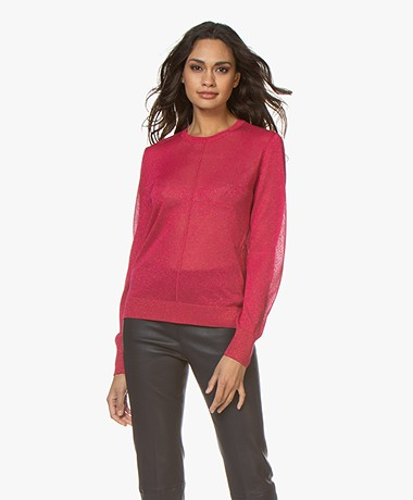 Closed Viscose Blend Lurex Sweater - Hibiscus