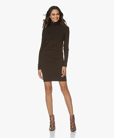 Wolford Aurora Cradle-to-Cradle Turtleneck Dress - Black