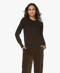 Filippa K  Merino R-neck Sweater - Black