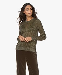 Closed Viscose Blend Lurex Sweater - Sea Tangle