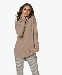 Resort Finest Selva Cashmere Blend Sweater - Camel
