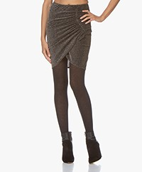 IRO Tacite Wrap Lurex Skirt - Black/Silver/Gold