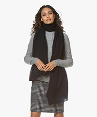 Repeat Pure Cashmere Scarf - Navy