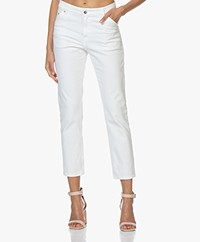IRO Troka Cropped Jeans - White